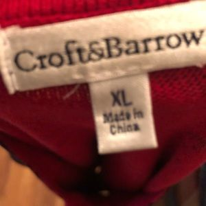 croft & barrow Sweaters - Croft & Barrow |🌺 Red & Black Floral Cardigan